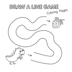 Cartoon Dinosaur Coloring Book Game for Kids