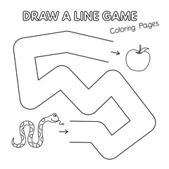 Cartoon Snake Coloring Book Game for Kids