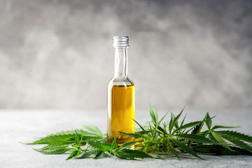 Oil and leaves of hemp