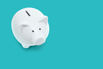 Ceramic white piggy bank