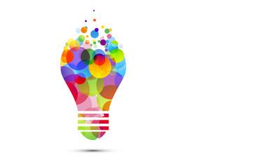 lampadina, idea, colori, creatività, idee Wall mural