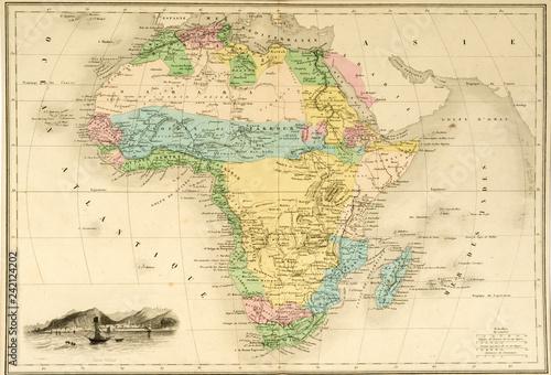 Karte Afrika.Karte Landkarte Afrika Um 1860 Historisch Stock Photo And Royalty