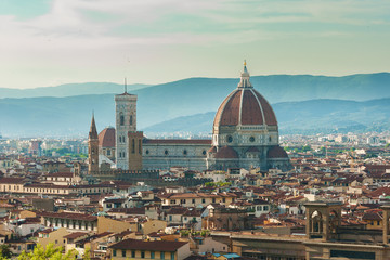 Wall Mural - Skyline of Historical city Florence, Tuscany, Italy