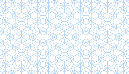 The geometric pattern with lines. Seamless vector background. White and blue texture. Graphic modern pattern. Simple lattice graphic design