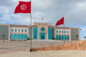 Keuken foto achterwand Tunesië Public square of Tunis, national monument and city hall, Tunisia.