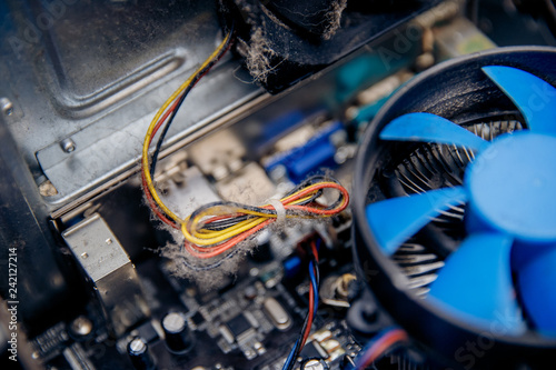Super Dust On Computer Pc Processor Cooler With Mainboard Concept Short Wiring Digital Resources Antuskbiperorg