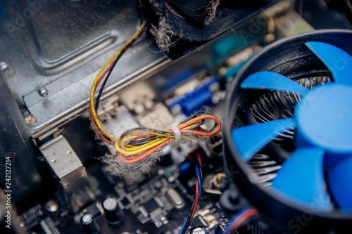 Fantastic Dust On Computer Pc Processor Cooler With Mainboard Concept Short Wiring Digital Resources Otenewoestevosnl