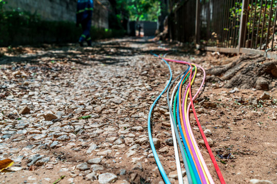 Fibre optic cables on the streer