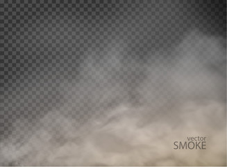 smoke with fog flame isolated on transparent