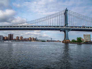 In de dag Brug Manhattan bridge in New York