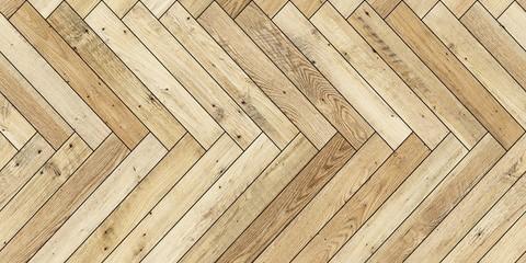 Seamless wood parquet texture horizontal herringbone light brown