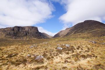 Top of the Bealach na ba mountain pass in Scotland