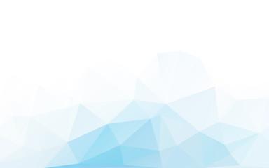 blue triangle polygonal geometric design