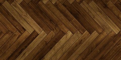 Seamless wood parquet texture horizontal herringbone deep brown various