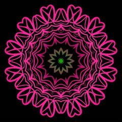 Mandala Style Vector Shapes. Decorative Cicle ornament. Floral design