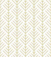 Herringbone ornament in gold. Seamless vector pattern
