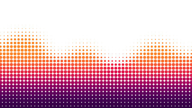 Halftone dots background, wave shape, overlay pattern, vector illustration