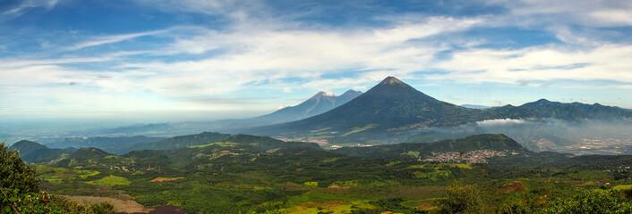 Panoramic view from Pacaya volcano Fototapete