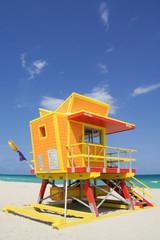Orange Miami Beach Lifeguard Watchtower