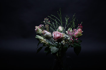 Bouquet of frozen flowers