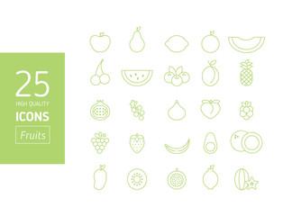 Set de iconos de frutas (Alta calidad)