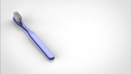 歯ブラシ 青 左