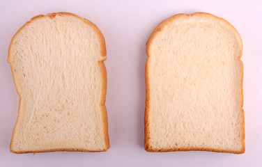 Soft bread with a white backdrop.