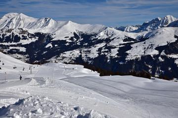 Ski à Lenk dans l'Oberland bernois, Suisse