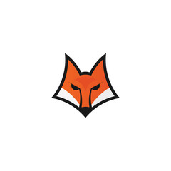 Fox head icon. Logo template for your project. Vector illustration.
