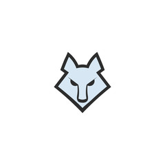 Wolf head icon. Logo template for your project. Vector illustration.