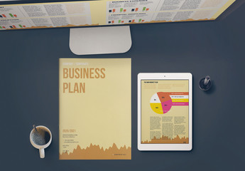 Business Plan Layout with Tan Accents