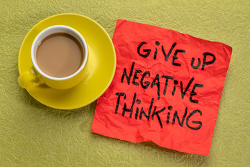 give up negative thoughts