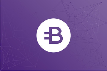 BCN bytecoin cryptocurrency vector symbol network illustration
