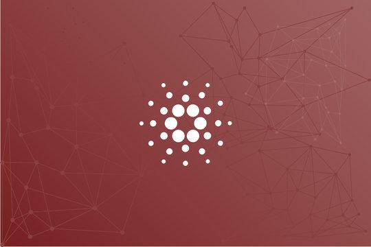 Cardano ADA cryptocurrency vector symbol network illustration