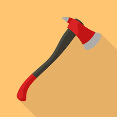 Fire fighter axe icon. Flat illustration of fire fighter axe vector icon for web design