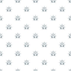 Modern rock music pattern vector seamless repeat for any web design