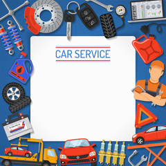 Car Service Banner and Frame
