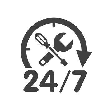 24/7 Car Service Logo