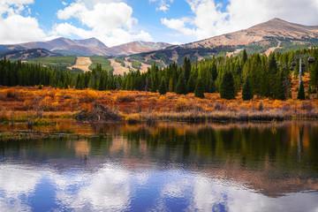 Breckenridge Fall Lake Fototapete