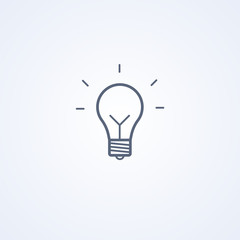 Light Bulb, idea, thinking concept, lighting electric lamp, vector best gray line icon