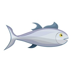 Tuna fish icon. Cartoon of tuna fish vector icon for web design isolated on white background
