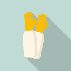 Beekeeper gloves icon. Flat illustration of beekeeper gloves vector icon for web design