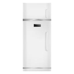 Home fridge icon. Realistic illustration of home fridge vector icon for web design