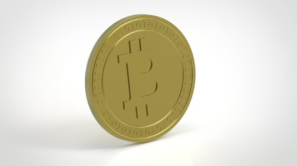 Bitcoin BTC coin photorealistic render