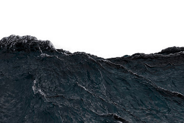 Big waves in a storm across the ocean isolated Wall mural