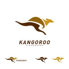 Kangaroo logo Design Vector Template. Kangaroo Fast Logo Concepts