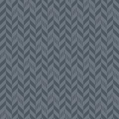 Tribal Chevron Seamless Pattern - Gray chevron or herringbone mixed with stripes