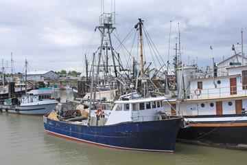 Fishing boats in Steveston Harbor, Canada