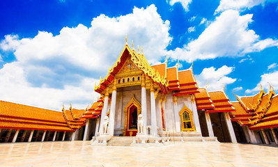 Wall Mural - Wat Benchamabophit or Marble temple, Bangkok