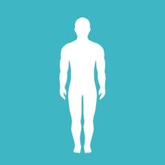 Human body vector silhouette